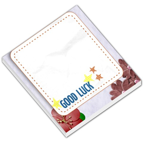 Good Luck By Ashwin   Small Memo Pads   Xbse8bcqn0wx   Www Artscow Com