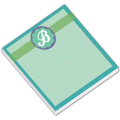 Blue Green Purple Monogram By Klh   Small Memo Pads   B7p7kpc56oap   Www Artscow Com