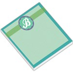 Blue Green Purple Monogram - Small Memo Pads
