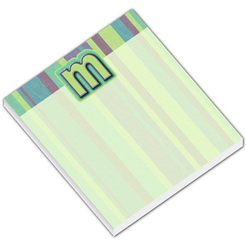 Striped Monogram Memo By Klh   Small Memo Pads   9pa4ei4srszp   Www Artscow Com