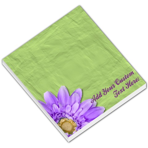 Green And Purple Daisy Memo Pad By Angela   Small Memo Pads   2ha4aivf5pkx   Www Artscow Com