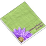 Green and Purple Daisy Memo Pad - Small Memo Pads