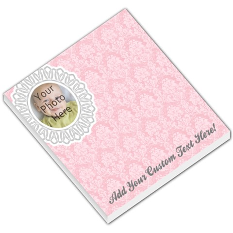 Pink Lace Photo Memo Pad By Angela   Small Memo Pads   2mw3jg4yi54z   Www Artscow Com