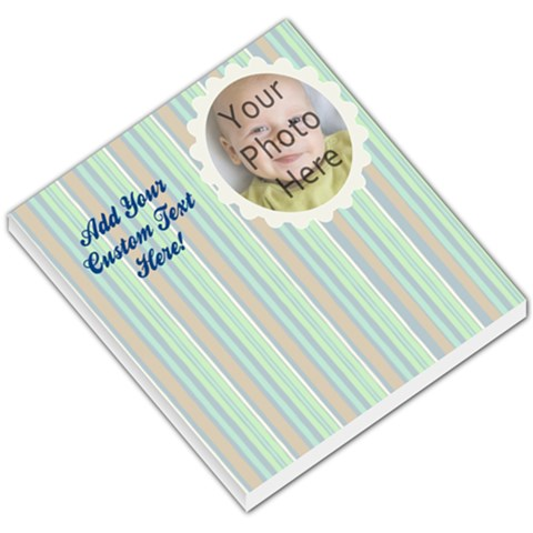Soft Blue Stripes Memo Pad By Angela   Small Memo Pads   14b2xh2xnsz0   Www Artscow Com