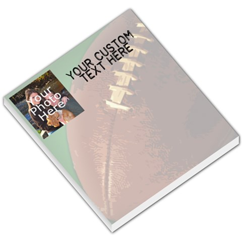 Football Photo Memo Pad By Angela   Small Memo Pads   5ni4zmqsq1xs   Www Artscow Com
