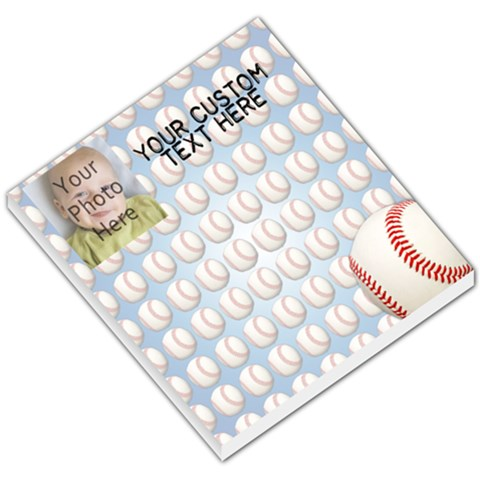 Photo Baseball Memo Pad By Angela   Small Memo Pads   N82shryw0bhi   Www Artscow Com