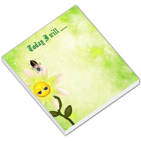 Today I Will      By Snackpackgu   Small Memo Pads   Lcph2dk34pls   Www Artscow Com