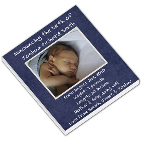 Birth Announcement   Memopad By Mim   Small Memo Pads   Atgruzv9shiv   Www Artscow Com