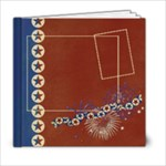 6x6 Album- Red, White & Blue - 6x6 Photo Book (20 pages)