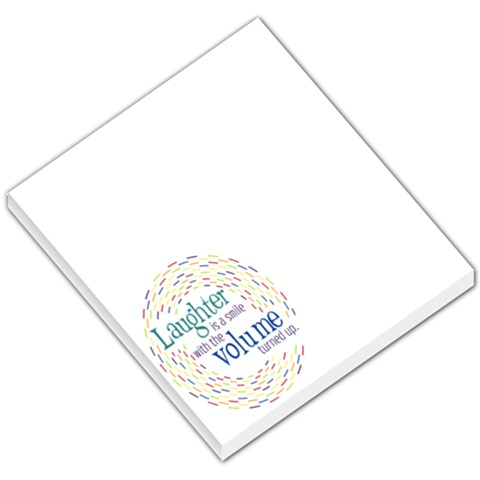 Memo Pad  Laughter By Mikki   Small Memo Pads   1p6ix141jotf   Www Artscow Com