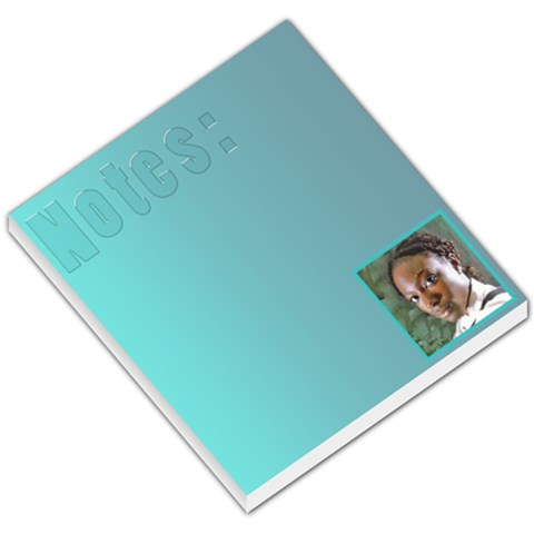 Notes Blue By Jorge   Small Memo Pads   8pgfxlkth92u   Www Artscow Com
