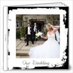 Our Wedding Simple Black & White  Frameless Album - 12x12 Photo Book (20 pages)