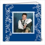Blue Swirls 8 x 8 book - 8x8 Photo Book (20 pages)