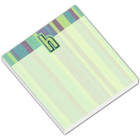 Striped H Monogram Memo By Klh   Small Memo Pads   Ulr797ir056c   Www Artscow Com