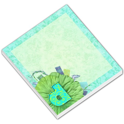 Turquoise D Monogram Memo By Klh   Small Memo Pads   215g8h45wdka   Www Artscow Com