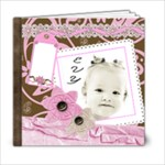 girly pink chocolate 6x6 template book - 6x6 Photo Book (20 pages)