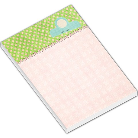Large Memo Template   Pink & Polka Dots By Mikki   Large Memo Pads   Jx9pl4ddqyue   Www Artscow Com