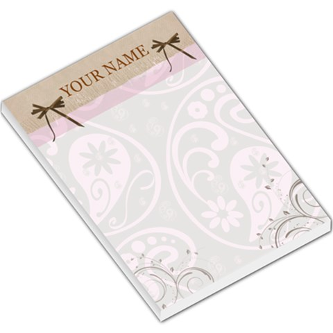 Elegant Pink Chocolate Large Memo Pad Template By Danielle Christiansen   Large Memo Pads   1u9qsmyomykt   Www Artscow Com