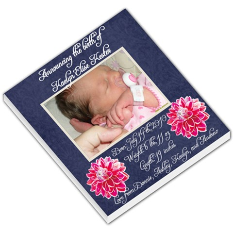 Birth Announcement   Memopad By Ashley Nicole Kester   Small Memo Pads   7kczwf4l58e3   Www Artscow Com