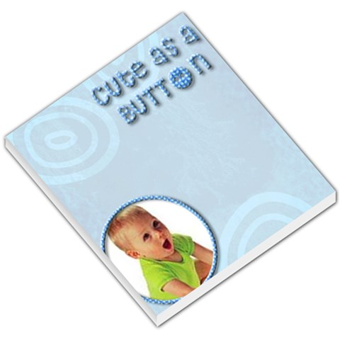 Cute As A Button   Memopad By Carmensita   Small Memo Pads   3pvo42z4ubqd   Www Artscow Com