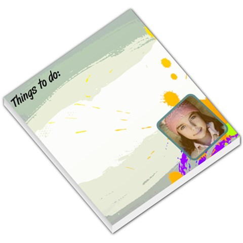 Jorge Things To Do Memopad By Jorge   Small Memo Pads   Kji3iqbjnxvx   Www Artscow Com