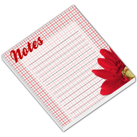 Red Checkered Daisy Notes By Angela   Small Memo Pads   5p6h9dro8f85   Www Artscow Com