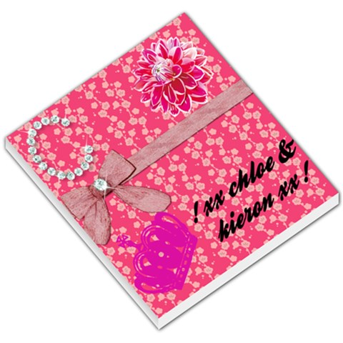 Lovely Pink Bow Memo Pad By Chloe Grayson   Small Memo Pads   Rybxcfjnjf7c   Www Artscow Com