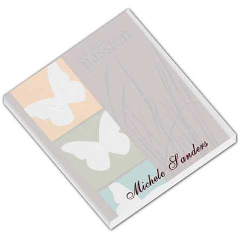 Livewithpassion Memopad By Michele Sanders   Small Memo Pads   Gl0mm86pg35b   Www Artscow Com