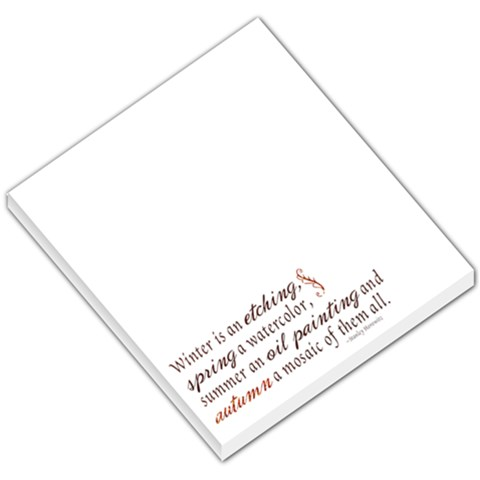 Winter, Spring, Summer, Fall Memo Pad Template By Mikki   Small Memo Pads   M9n5bwrklde7   Www Artscow Com