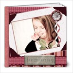 burgandy blessings template book - 8x8 Photo Book (20 pages)