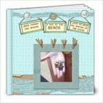 a day at the beach template book - 8x8 Photo Book (30 pages)