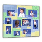 Baby Boy Portrait Collage 20x24 Canvas - Canvas 24  x 20  (Stretched)