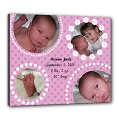 Pink Polka Dots 20x24 Canvas - Canvas 24  x 20  (Stretched)