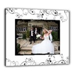 Black & Cream Wedding framed canvas 20 x 24 - Canvas 24  x 20  (Stretched)
