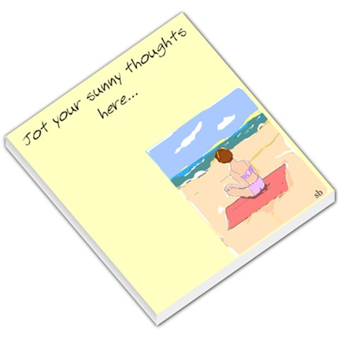 Sunny Memo Pad By Sunny Brooks   Small Memo Pads   R1l3q0rd605c   Www Artscow Com