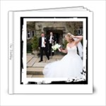 Our Wedding Simple Black & White 6 x 6 Album - 6x6 Photo Book (20 pages)