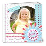 girl template book - 8x8 Photo Book (20 pages)