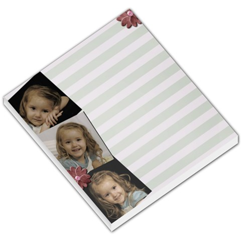 3 Photo Flower Memopad By Amanda Bunn   Small Memo Pads   8j1p0k2knys7   Www Artscow Com
