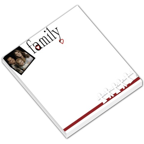 One Photo Family Memopad By Amanda Bunn   Small Memo Pads   65gswmqu36sg   Www Artscow Com