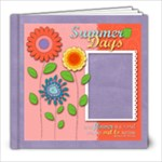 8x8 Summer Days, Flowers Album - 8x8 Photo Book (20 pages)
