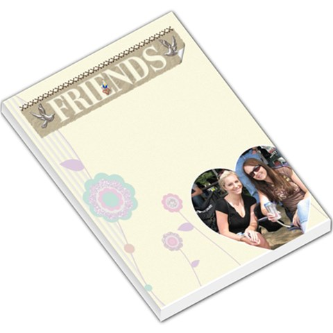 Friends Large Memo Pad By Lil    Large Memo Pads   Zvwveagyoglo   Www Artscow Com