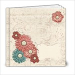 6x6 Floral Album - 6x6 Photo Book (20 pages)