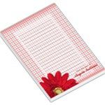 Red Daisy Large Notepad - Large Memo Pads