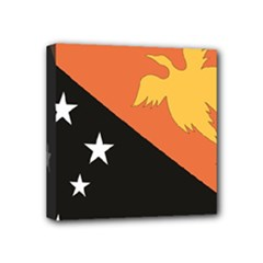 Flag_Papua New Guinea Mini Canvas 4  x 4  (Stretched)