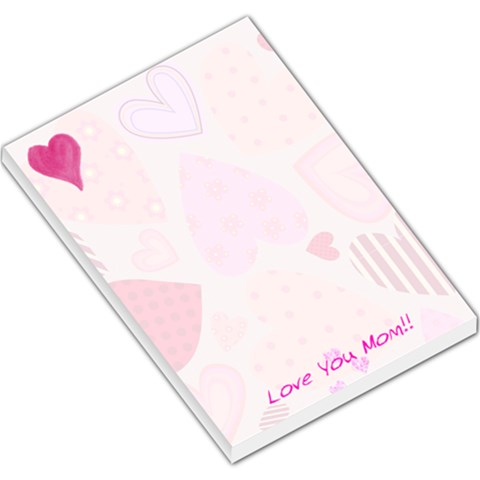 Hearts By Darlene Hohn   Large Memo Pads   2te4xwnmttop   Www Artscow Com
