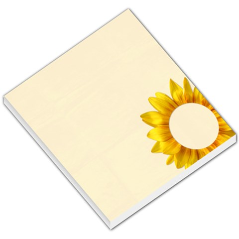 Sunflower Memo Pad By Mikki   Small Memo Pads   0y3piszfyua7   Www Artscow Com