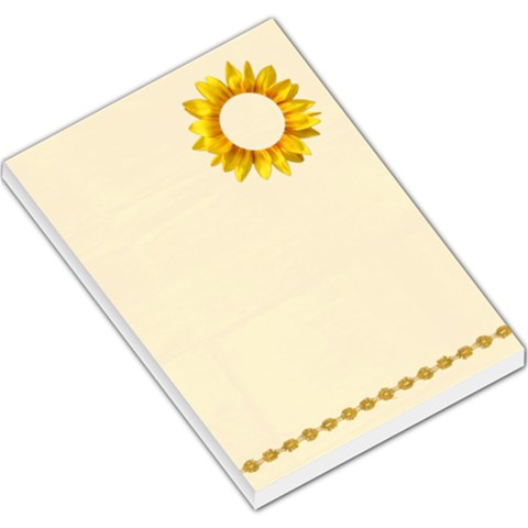 Sunflower Large Memo Pad By Mikki   Large Memo Pads   0conlxpdq17c   Www Artscow Com