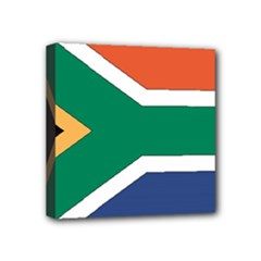 Flag_South Africa Mini Canvas 4  x 4  (Stretched)