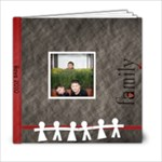 6x6 black and red family album - 6x6 Photo Book (20 pages)