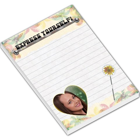 Express Yourself Large Memo Pad By Lil    Large Memo Pads   Uablebb8mxwj   Www Artscow Com